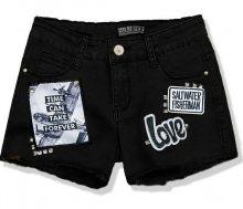 Černé šortky S6227