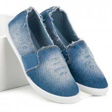 Nazouvací modré džínové tenisky