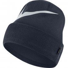 Nike U Beanie Swoosh Cuffed modrá Jednotná