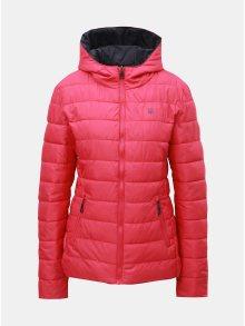 Šedo-růžová dámská oboustranná vodeodpudivá bunda s kapucí LOAP Irisa