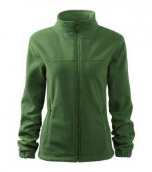 Dámská fleecová mikina Jacket - Lahvově zelená | L