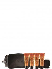 Scottish Fine Soaps Cestovní sada: Pleťový krém + sprchový gel + pleťové mýdlo + balzám po holení + ručník A01808\n\n