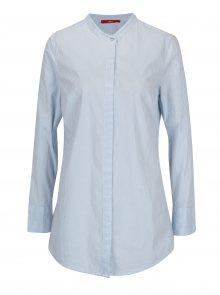 Bílo-modrá dámská pruhovaná dlouhá košile s.Oliver 21323c0b6e