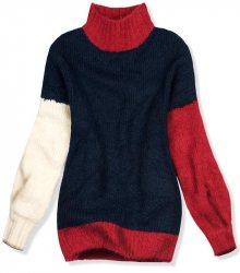 Tmavě modrý oversized pulovr