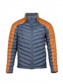Columbia Pánská zimní bunda_modrá/oranžová\n\n