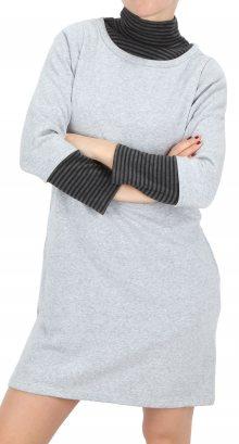 Dámské teplé šaty s roláčkem BS Saddle