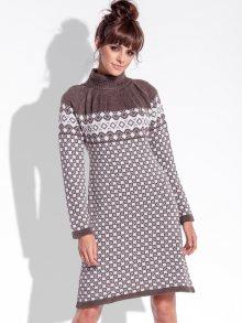 Fobya Dámské šaty F335_Espresso\n\n
