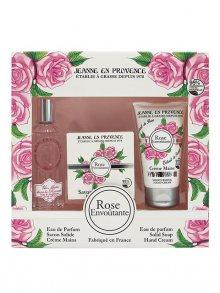 Jeanne en Provence Dárková sada - Růže - parfémovaná voda, mýdlo a krém na ruce\n\n