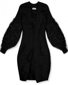 Černý svetr s třásněmi