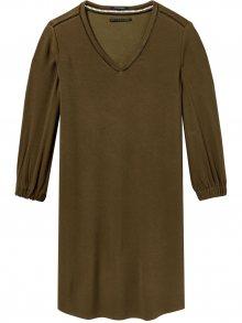 Scotch&Soda hnědé šaty s tříčtvrtečním rukávem - M