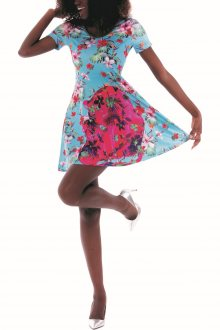 Culito from Spain barevné šaty Leona Mama - XL