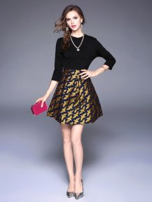 Kaimilan Dámské šaty QC547 Black\n\n