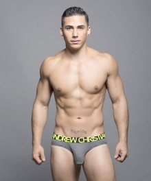 ANDREW CHRISTIAN slipy pánské šedé Almost Naked Steel Brief 90043