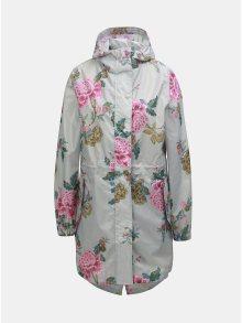 Světle šedá dámská květovaná pláštěnka Tom Joule