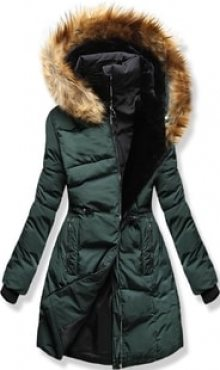 MODOVO Dámská zimní bunda s kapucí M11 zelená