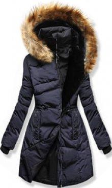 MODOVO Dámská zimní bunda s kapucí M11 tmavě modrá