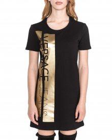 Šaty Versace Jeans   Černá Zlatá   Dámské   XS