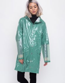 Rains LTD Long Jacket 73 Glossy Faded Green S/M