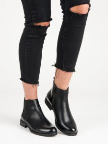 Klasické černé kotníkové boty