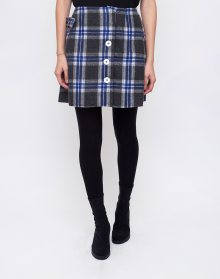 House of Sunny Aspin Kilt Record Skirt Asphalt Grey Blue 34