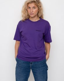 Carhartt WIP Script Embroidery Frosted Viola / Black L