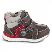 Pohodlné dětské hnědé kotníkové boty