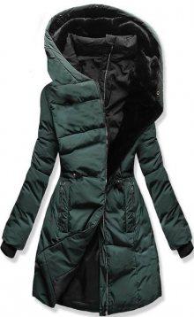 Zimní prošívaná bunda zelená