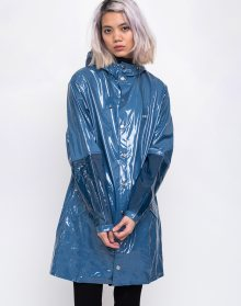 Rains LTD Long Jacket 73 Glossy Faded Blue S/M