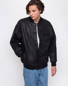 Levi´s® Leather Varsity Bomber Black M