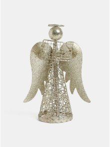 LED andělíček s knihou ve zlaté barvě Kaemingk