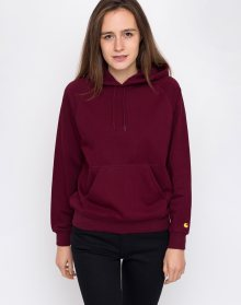 Carhartt WIP Hooded Chase Sweat Mulberry / Gold L