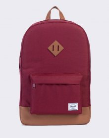 Herschel Supply Heritage Windsor Wine/Tan Synthetic Leather