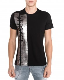 Triko Versace Jeans   Černá Stříbrná   Pánské   M
