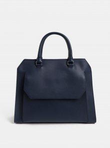 Tmavě modrá kožená kabelka s kapsou BREE Cambridge 13