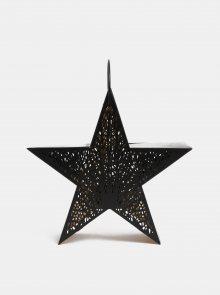 Černá kovová lucerna ve tvaru hvězdy Dakls