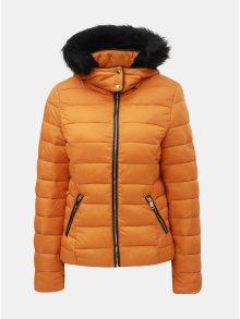 Oranžová prošívaná zimní bunda s odnímatelnou kapucí TALLY WEiJL