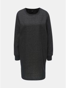 Černé mikinové šaty s metalickým vláknem ONLY Luna