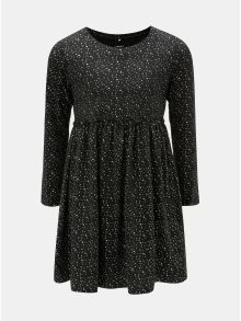 Černé vzorované šaty s dlouhým rukávem Name it Rima