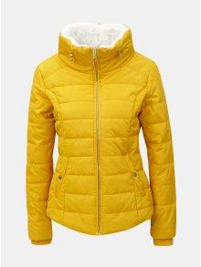 Žlutá zimní prošívaná bunda s vysokým límcem Dorothy Perkins