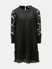 Černé krajkové holčičí šaty s dlouhým rukávem Name it Sulla