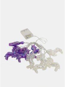 LED světelný řetěz ve tvaru perleťových jednorožců s časovačem Kaemingk