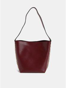 Vínová kabelka s ozdobným řetězem ve zlaté barvě Dorothy Perkins