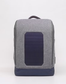 Knowledge Cotton Solar Backpack Small 1133 Monument Grey Mix