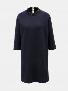 Tmavě modré mikinové šaty se stojáčkem Scotch & Soda