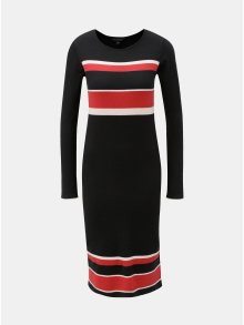 Červeno-černé pruhované svetrové šaty Dorothy Perkins