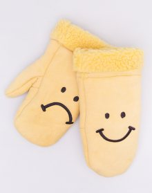 Lazy Oaf Happy Sad Mittens Yellow