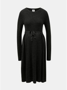 Tmavě šedé těhotenské svetrové šaty Mama.licious Zoe