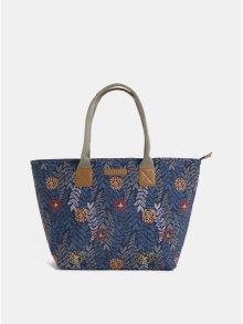 Tmavě modrý květovaný shopper Brakeburn
