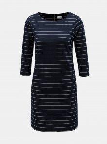 Tmavě modré pruhované šaty VILA