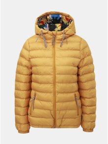 Hořčicová zimní prošívaná bunda Femi Stories